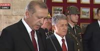 Cuhmurbaşkanı Erdoğan Anıtkabir'de konuştu
