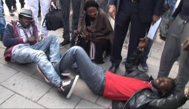 Ankarada Micheal Brown eylemi