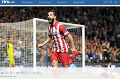 Arda Turan FIFA'nın manşetini süsledi