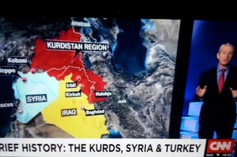 CNNden Kürdistan Haritası Açıklaması: Hata Yok