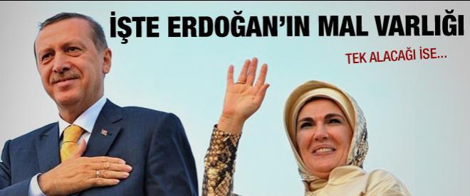 Erdoğan ile eşinin mal beyanı Resmi Gazete'de