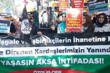 Fatihte İsrail protestosu