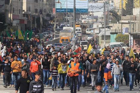 Filistin otobüs cinayeti için ayaklandı
