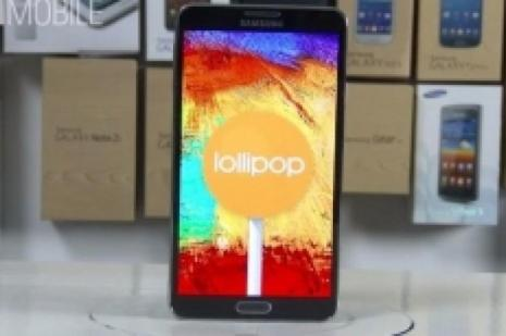 İşte Android 5.0 Lollipop yüklü Galaxy Note 3