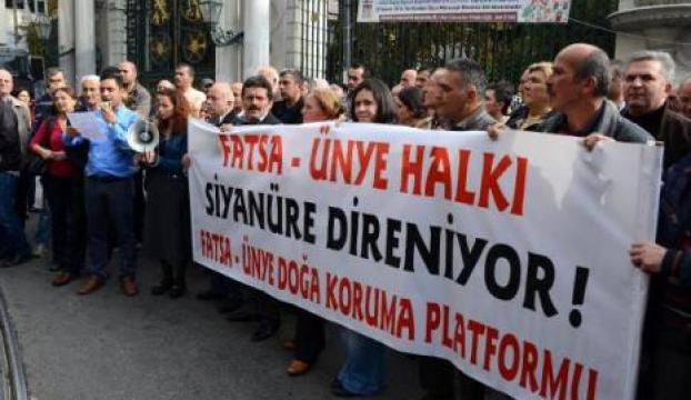 İstiklalde siyanürlü altın arama protestosu