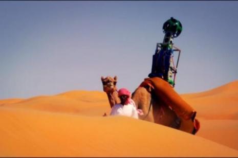 Kameralı Google Devesi çölü görüntüledi