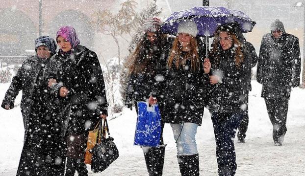İstanbula ve 10 ile kar yağışı uyarısı