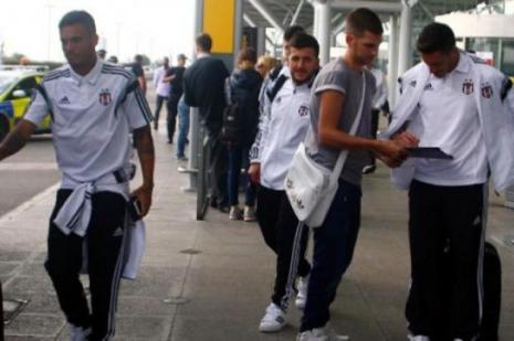 Beşiktaş, İngiltere'nin başkenti Londra'ya indi