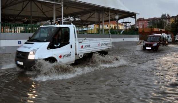 Giresundaki sağanak yağış hasar verdi