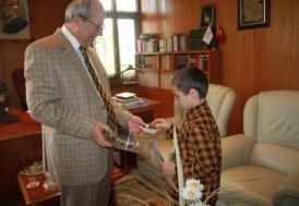 Mahmut Esat, 8 yaşında hafız oldu