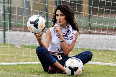 Güzel oyuncu futbolcu çıktı