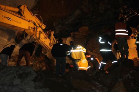 Tünel inşaatında korkunç kaza