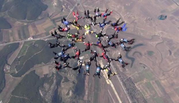 Havada 40 kişilik rekor kırıldı