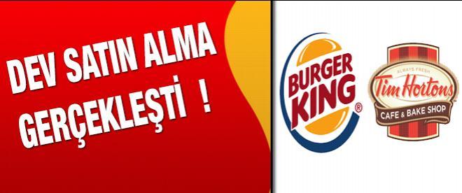 Burger King, Tim Horton's'ı satın aldı