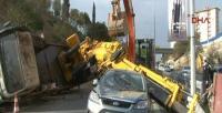 Beşiktaş'ta vinç kazası