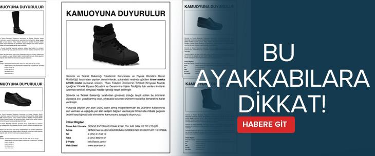 Ayakkabı firması, bu ayakkabıları piyasadan toplamak için ilan verdi
