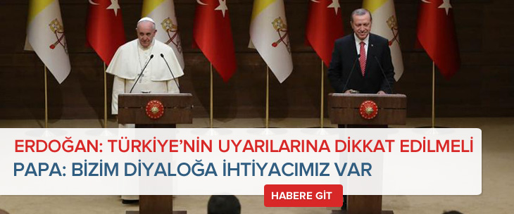 Papa Francesco Ankara'da