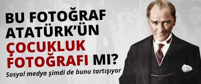 Bu resim Atatürk'ün çocukluk fotoğrafı mı?
