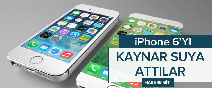 Iphone 6 kaynar suya atıldı, ya sonra...