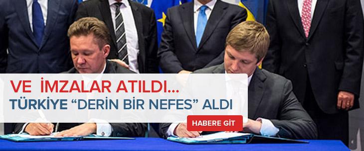 Ve imzalar atıldı..Türkiye nefes aldı