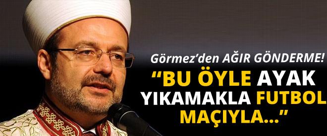 Mehmet Görmez'den Papa'ya ağır gönderme
